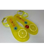 NEW Size 6 Katy Perry Geli LEMON Sandals Flats Jellies Jelly Shoes Green... - $29.69