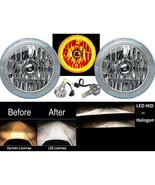 "7"" Amber COB LED Halo Angel Eye Headlights 6K 6000K LED Light Bulb Headl... - $149.95"