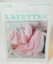 Leisure Arts Leaflet 2614 Lullaby Layettes 4 Sets to Crochet Alice Hyche  - $9.85