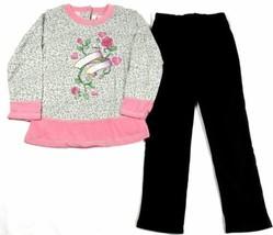 Size 5 Girl's Rock & Roll Princess Pants Set Long Sleeve Tunic Top & Leggings