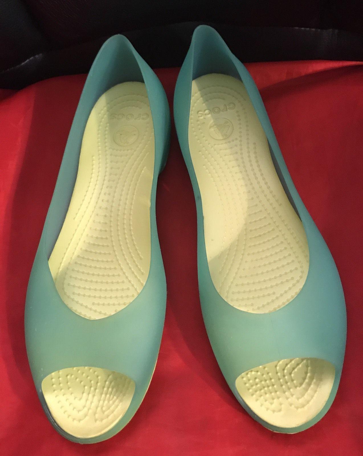 cea74d0932cc9e Crocs Carlie Lemon-Lime Green Peep Toe and 50 similar items. S l1600