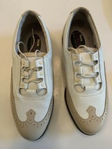 Footjoy Women Europa Collectio Golf Shoes 6 M Beige soft White Leather Wingtip   - $19.97