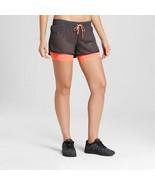 C9 Champion women's Layered Train Running Shorts Dark Gray/Coral - $5.84