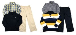 Boy's 4-7 Dockers 3-Piece 1/4 Zip Sweater Button-down Shirt Cargo Pants Licensed