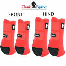 Small Classic Equine Legacy2 Horse Front Hind Sports Boots 4 Pack Red U-RD-S - $173.98