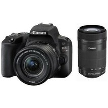 CANON EOS Kiss X9 Camera Double Zoom Lens Kit Black Japan Version New - $781.96