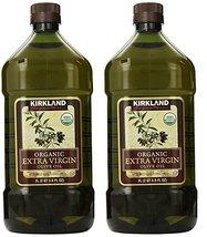 Kirkland Signature Organic Extra Virgin Olive Oil, 2L (2 Pack) - $73.03