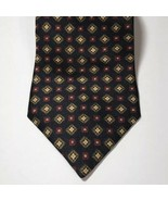 Tommy Hilfiger Black Silk Tie Geometric Design - $14.00