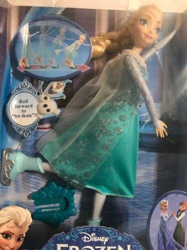 "DISNEY FROZEN ICE SKATING ELSA 12"" ELSA DOLL MATTEL CBc63  NEW IN BOX!"