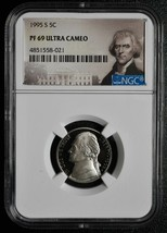 1995 S JEFFERSON NICKEL 5¢  NGC PF69 ULTRA CAMEO COIN SKU# C81 - $8.08