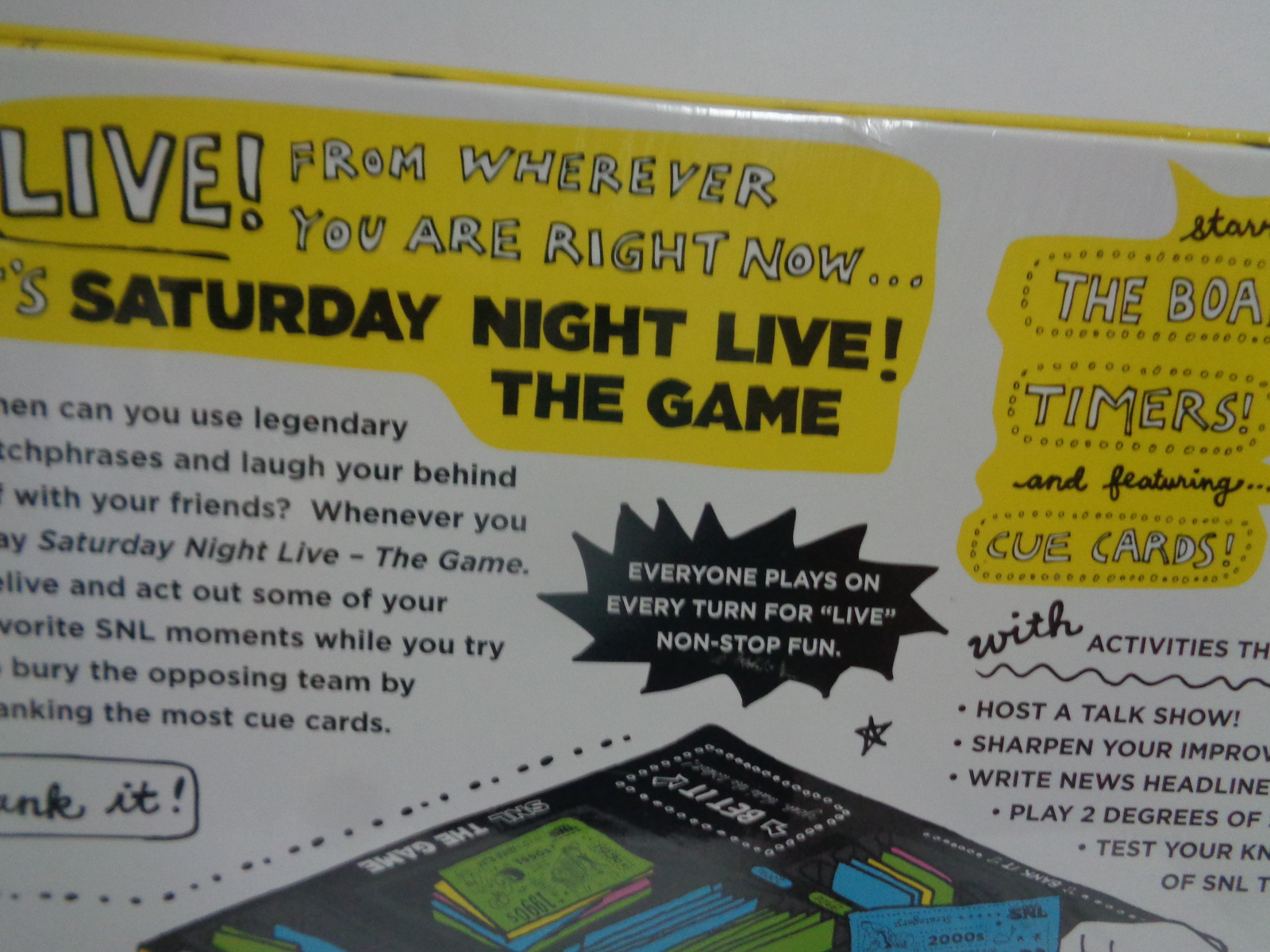 Saturday Night Live Game SNL Comedy Adult 12+ New Sealed Free Shipping