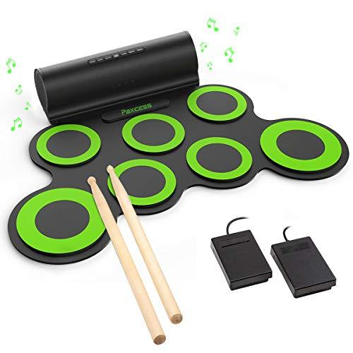 paxcess electronic drum set roll up drum practice pad midi drum kit with headph electronic drums. Black Bedroom Furniture Sets. Home Design Ideas