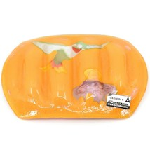 Fused Art Glass Hummingbird Bird Design Orange Soap Dish Handmade Ecuador image 2