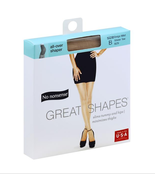 No Nonsense PANTYHOSE Great Shapes All-Over Shaper Sheer Toe Beige size B - $6.52
