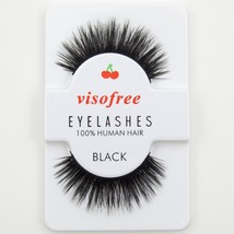 Visofree® False Handmade Eyelashes Black 3D Fake Lashes Human Hair Thick... - $4.29
