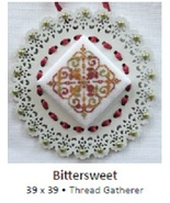 Bittersweet Laser Lace Ornament cross stitch chart Keslyn's - $8.00