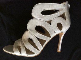 New Nine West Metallic Silver Real Leather Flora Sz 8.5 Shoes - $43.60