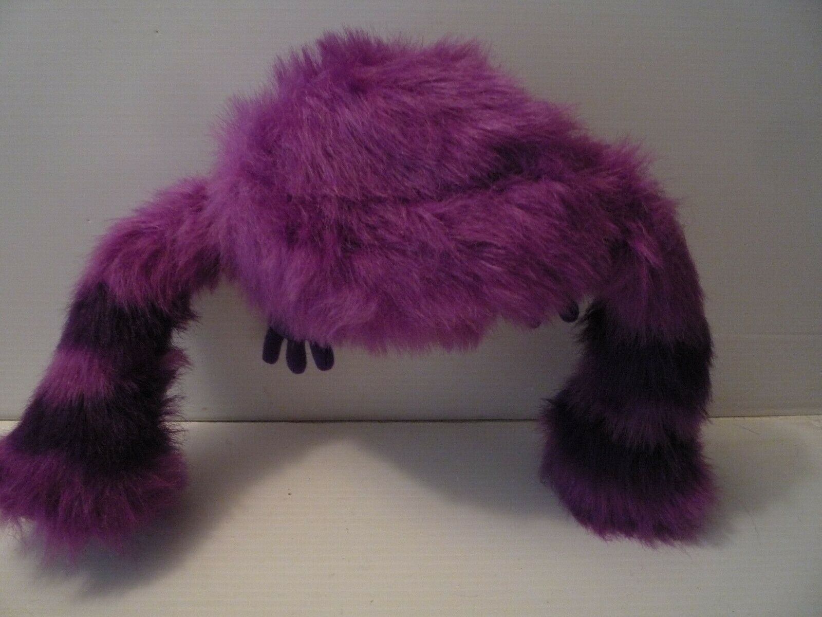 "Disney Monsters University Art Plush 12"" Purple stripped Big Teeth"