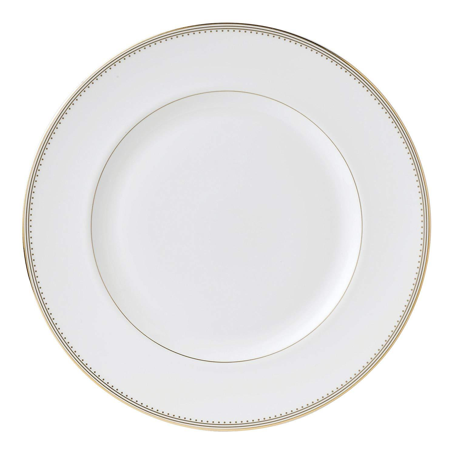 Primary image for VERA WANG WEDGEWOOD GOLD GROSGRAIN 4 PIECE DINNER SET MADE IN UK BONE CHINA NEW