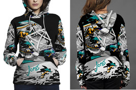 San Jose Sharks Player HOODIE  FULLPRINT FOR WOMEN - $42.99+