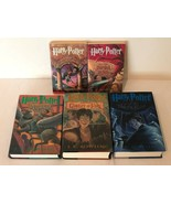 Harry Potter Books 1-5 Mixed Lot 3 Hardcover 2 Paperback J K Rowling 5 Y... - $49.99