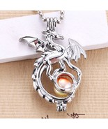 5pcs Wholesale Cute Silver Dragon Pearl Cage Jewelry DIY Pendant Charm P... - $9.93