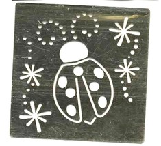 brass stencil butterfly and sparkles, ideal arts and crafts for all ages 75x75mm