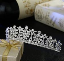 Elegant Bride Wedding Crystal Tiara White Crown... - $20.93
