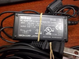 Genuine OEM Nikon EH-63 AC Adapter for Coolpix S1, S2 & S3 Digital Cameras - $18.42