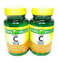 Spring Valley Vitamin C 500 Mg with Rose Hips 100ct ( 2 packs) - $12.08