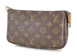 Authentic LOUIS VUITTON Accessory Pochette Monogram Hand Bag #34164 - $279.00