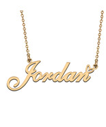Name Necklace Gold and Silver for Friend Family Member Named Jordan - $13.99+