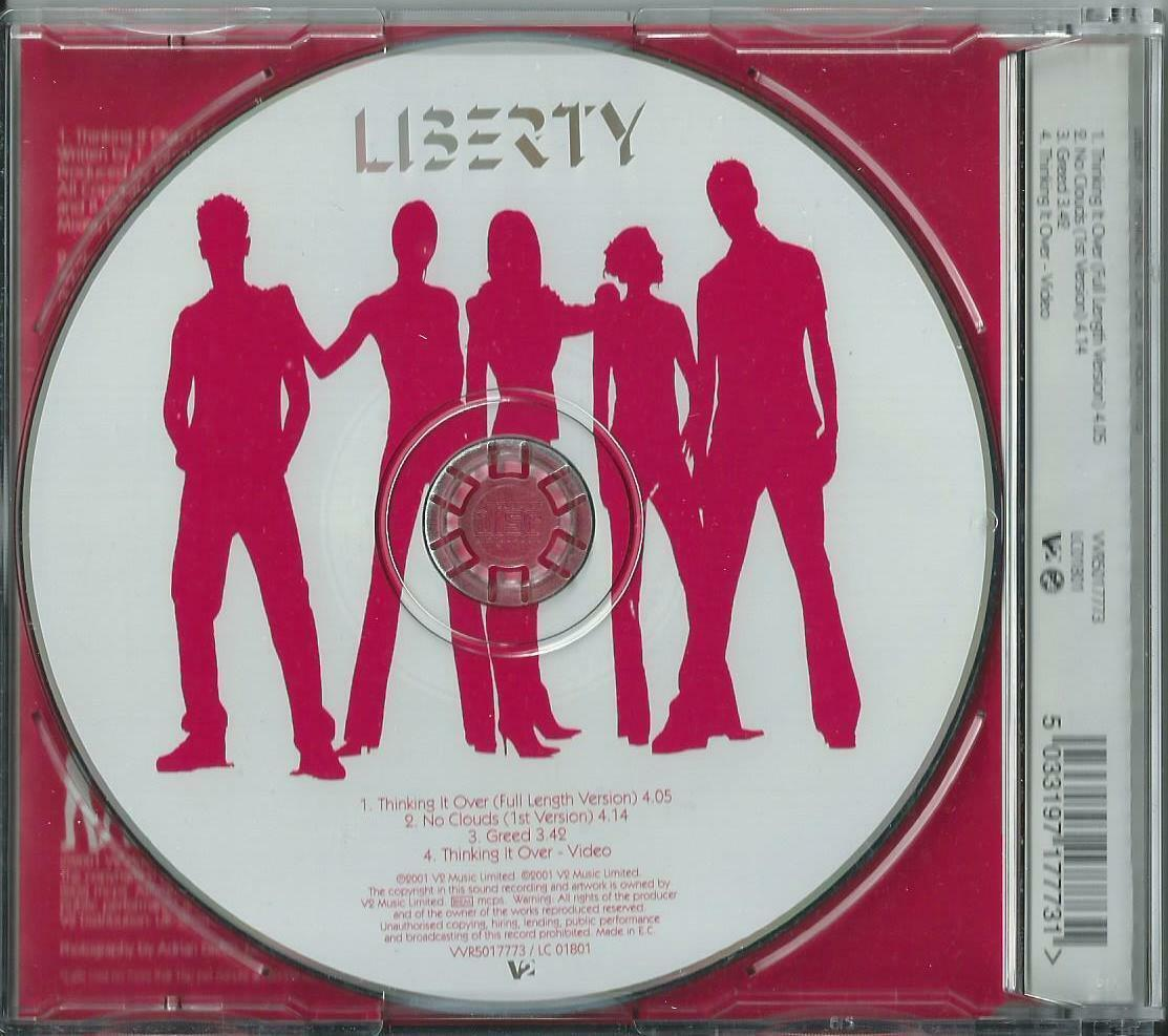 LIBERTY X - THINKING IT OVER / NO CLOUDS / GREED 2005 EU ENHANCED CD1 KEVIN SIMM
