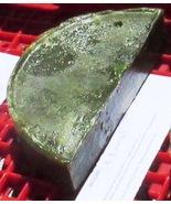 Goat Milk Soap Spirulina Green Apple SuperFatted One Half Moon Bar 4.8 o... - $4.80