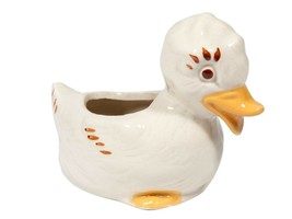 Adorable Vintage Small Ceramic Duck Planter - $8.15