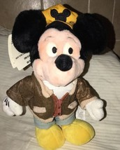 "Vintage Mickey Mouse Disney Store New York Cabby 11"" Mickey Plush Doll w... - $27.71"