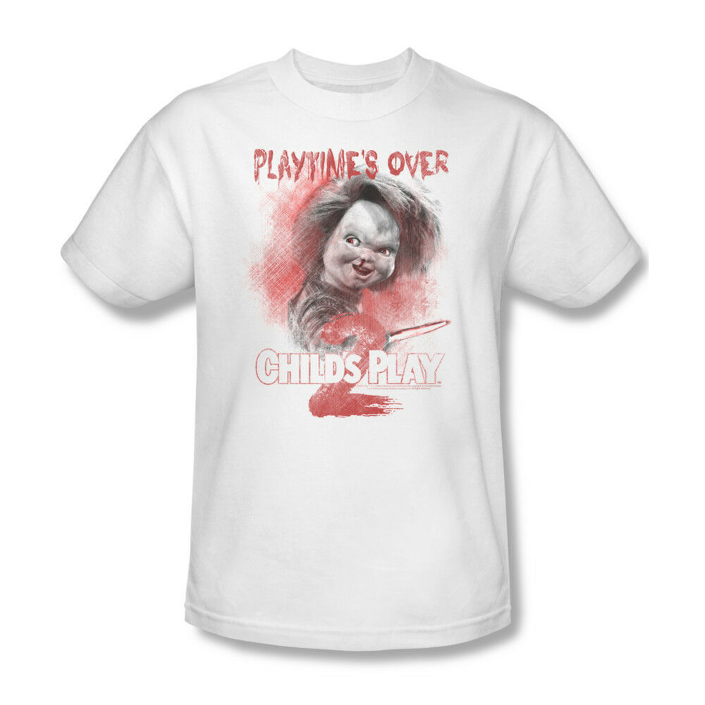 Childs Play II T-shirt Chucky retro horror movie cotton graphic tee  UNI400