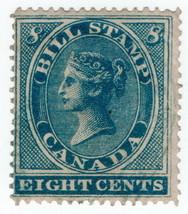 (I.B) Canada Revenue : Bill Stamp 8c (1864) - $8.56