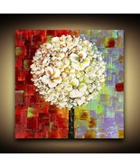 Abstract Lollipop Tree Fine Art PRINT on stretched ready to hang canvas ... - $245.00