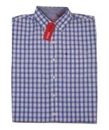 NWT IZOD Plaid Short Slleve Button Front Shirt Men's Size Large 100% Cotton - $37.62