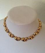 Vintage Mod Monet Wave Gold Tone Fashion Choker Necklace - $25.00