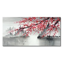 Traditional Chinese Painting Hand Painted Plum Blossom Canvas Wall Art M... - $110.49