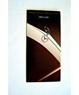 1989 mercedes 560sl 560sec owners price card sales brochure w107 w126 or... - $34.64