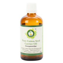R V Essential Pure Cotton Seed Carrier Oil Gossypium Spp Natural Cold Pr... - $8.30+