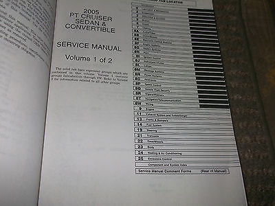 2005 Chrysler PT Cruiser Service Repair Shop Manual Set W WIRING DIAGRAMS EWD
