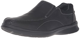 Clarks Men's Cotrell Step Slip-on Loafer,Black Oily,8 W US - $69.07