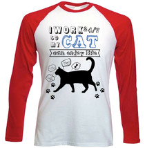 CAT 2 CAN ENJOY LIFE - NEW RED SLEEVED TSHIRT - $19.53