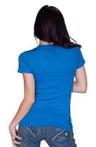 Cardboard Robot Women's Blue New Pollution Destruct Ozone Layer Myself T-Shirt image 2