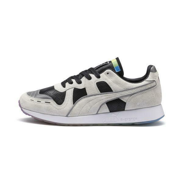 Mens Puma x Polaroid RS-100 Marshmallow Puma Black 368456-01