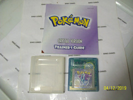 Pokemon Crystal Version Game With Manual AUTHENTIC - NEW SAVE BATTERY IN... - $78.75